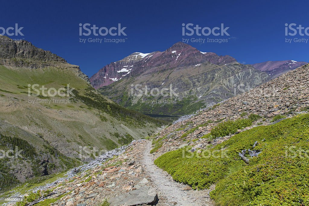 Hiking Paths in the Mountains royalty-free stock photo
