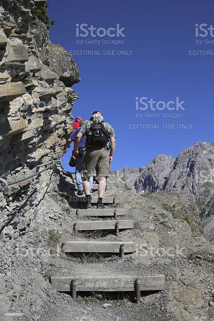 Hiking People royalty-free stock photo