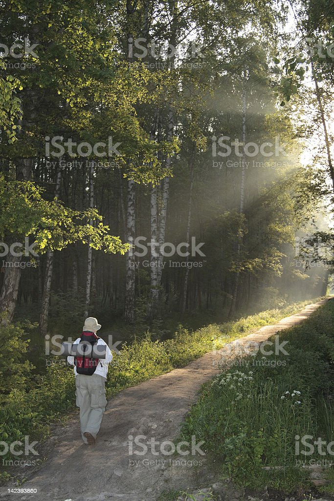 hiking royalty-free stock photo