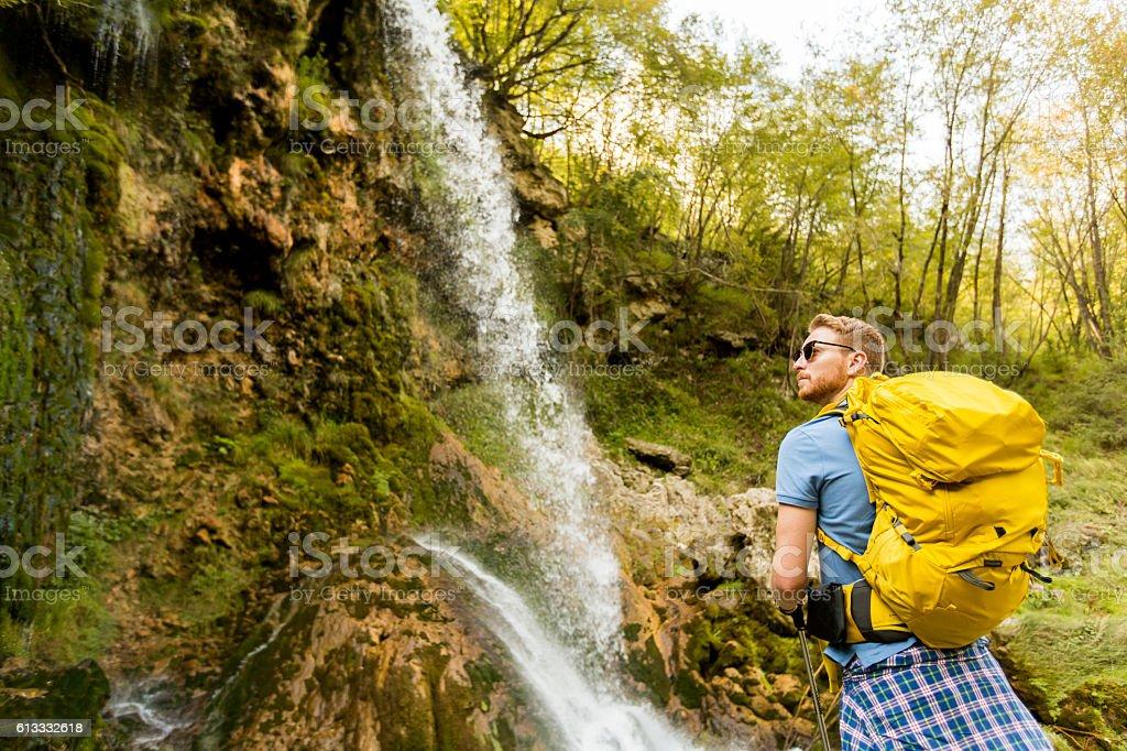 Hiking stock photo