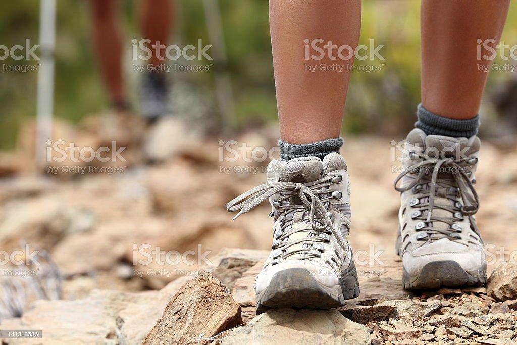 Wandern-Schuhe - Lizenzfrei Abenteuer Stock-Foto