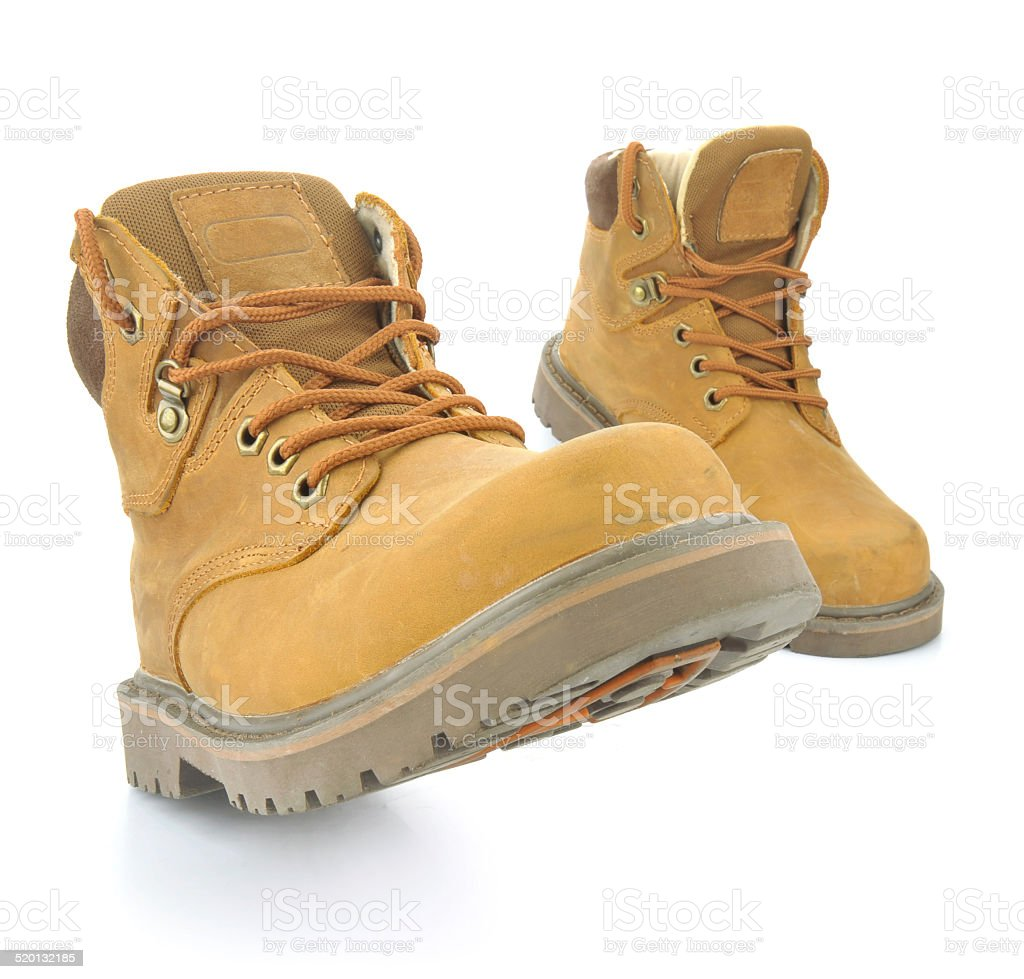 Hiking shoes stock photo