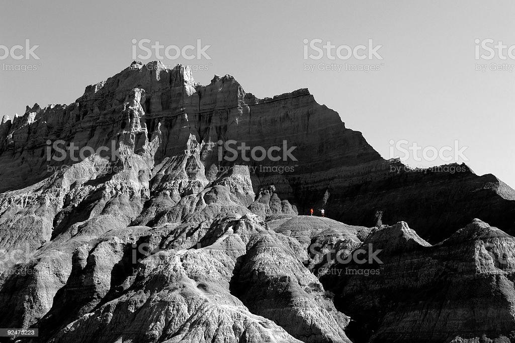 hiking the badlands royalty-free stock photo