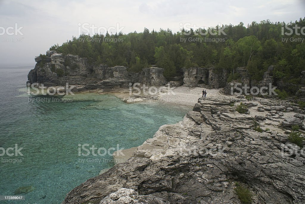 Hiking the Bruce Trail royalty-free stock photo