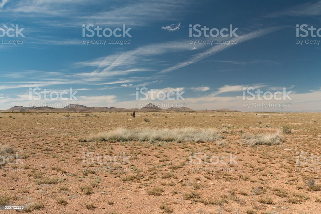 Hiking the Continental Divide Trail. stock photo