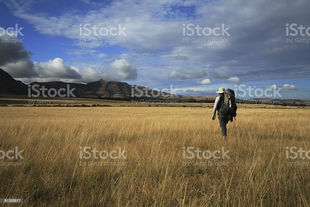 Hiking the Freestate royalty-free stock photo