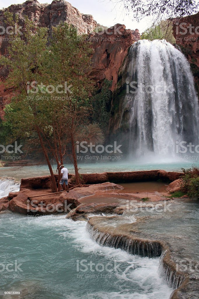Hiking the Havasu stream bed royalty-free stock photo