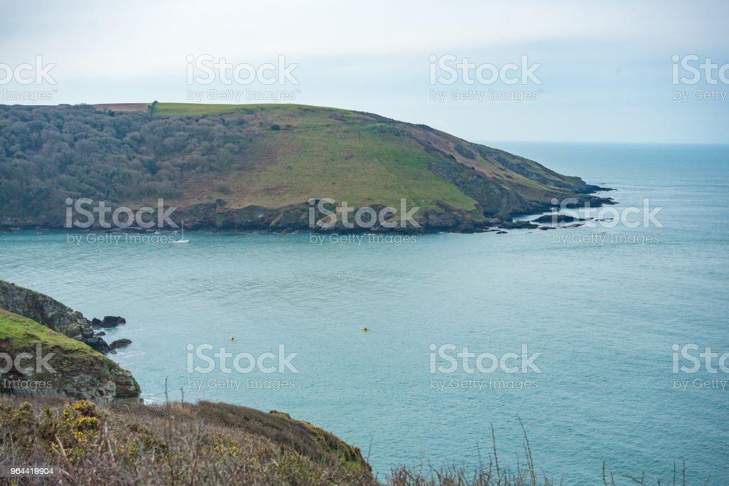 Caminhadas da sudoeste Coastal Path em Devon, UK. - Foto de stock de Areia royalty-free