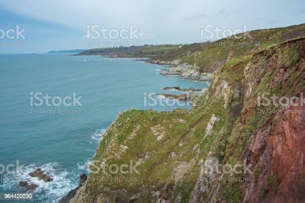 Foto de Caminhadas Da Sudoeste Coastal Path Em Devon Uk e mais fotos de stock de Areia