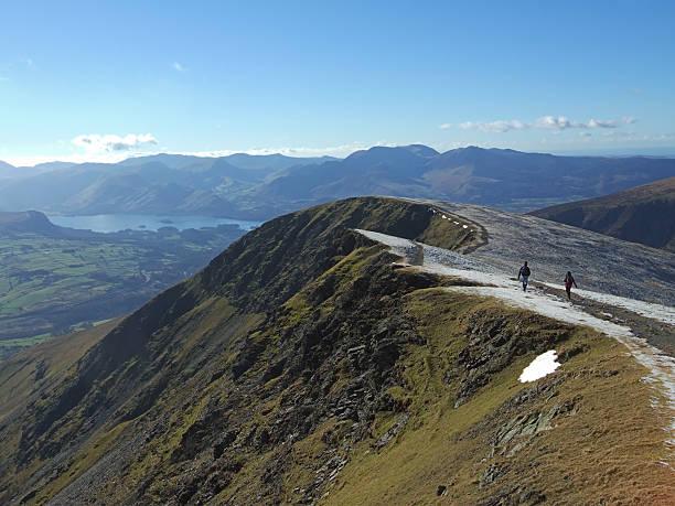 Wandern auf dem Gipfel ridge von Blencathra – Foto