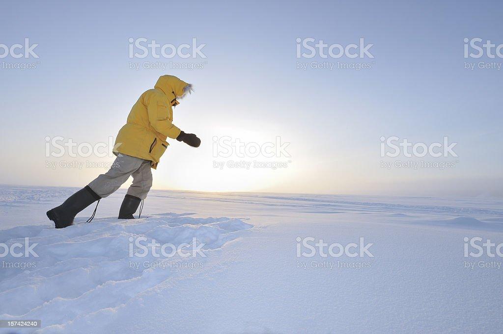 Hiking the Tundra. royalty-free stock photo