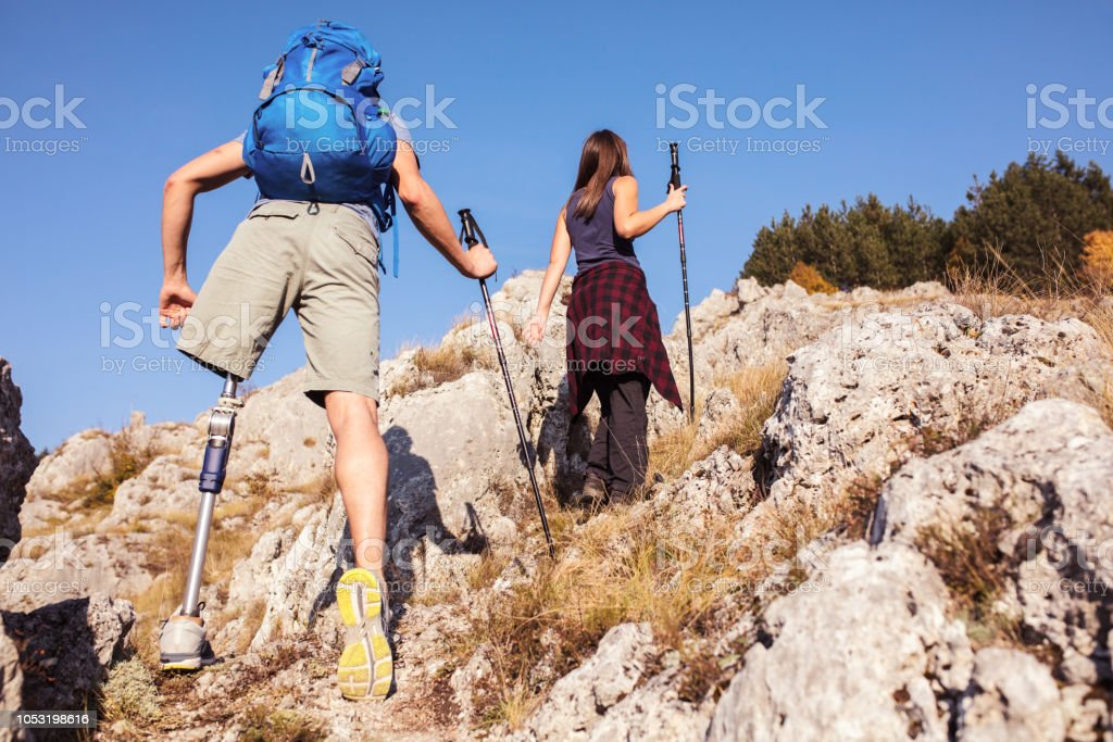 Hiking time. Inclusive recreation