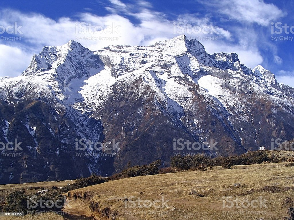 Hiking to Everest royalty-free stock photo