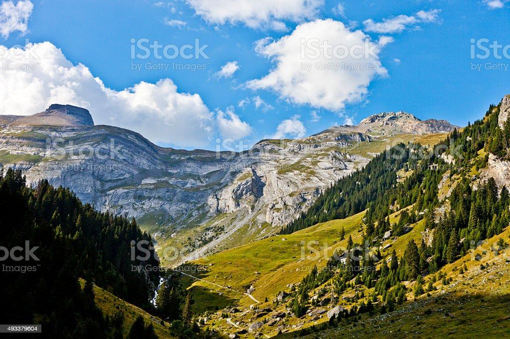 Hiking Trail and Kistenstöckli stock photo
