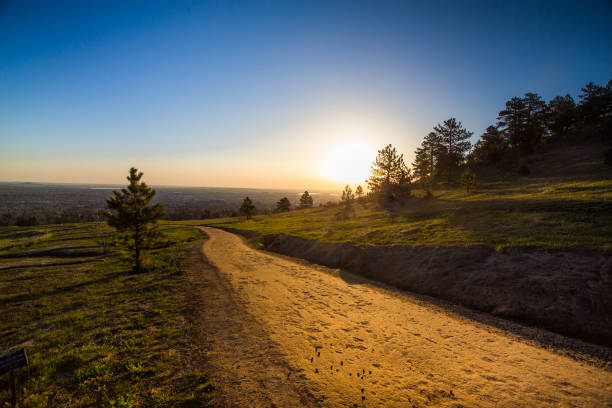 Hiking Trail Boulder Colorado stock photo