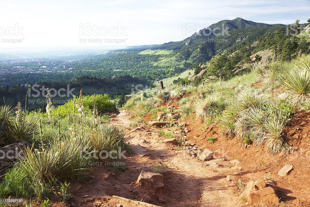Hiking trail in Boulder Colorado stock photo