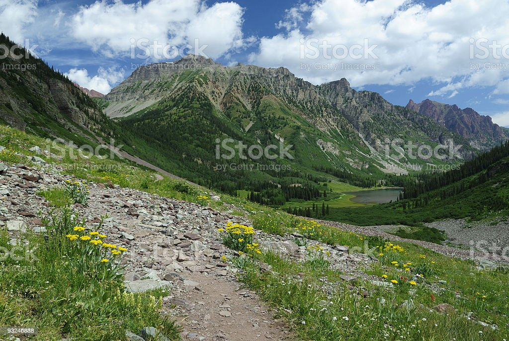 Hiking trail in Colorado Rocky Mountains royalty-free stock photo
