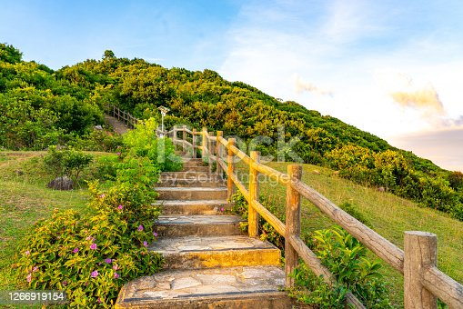 Hiking trail in Grass-Island, Hong Kong