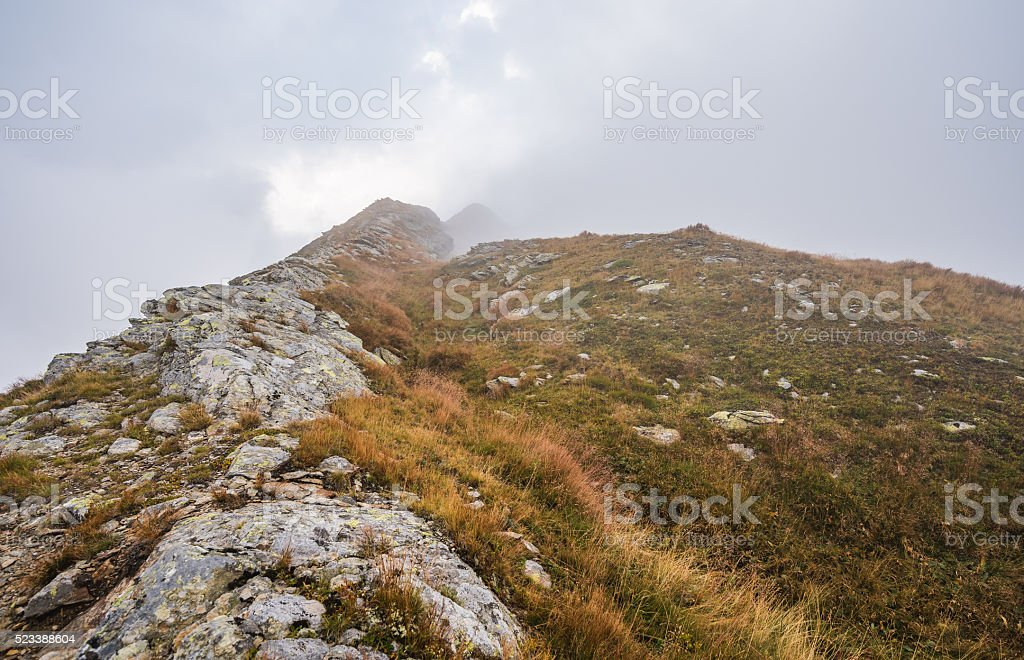 Hiking Trail in the Mountains stock photo