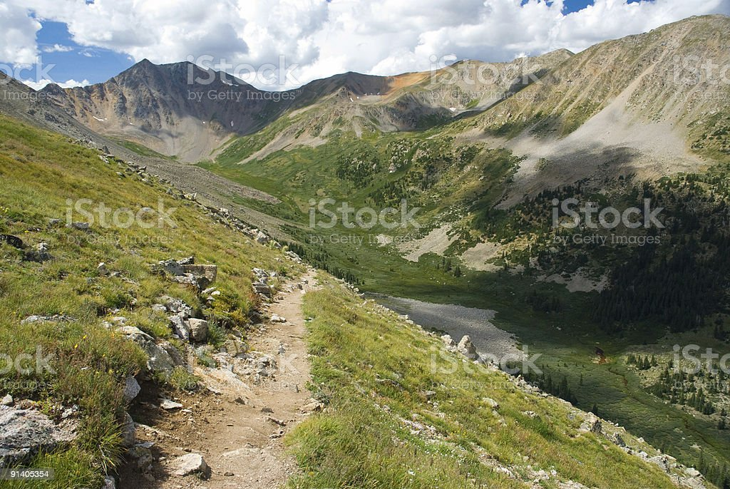 Hiking Trail in the Mountains royalty-free stock photo