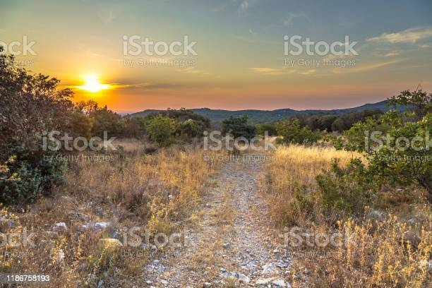 Photo of Hiking trail on hilltop in Cevennes
