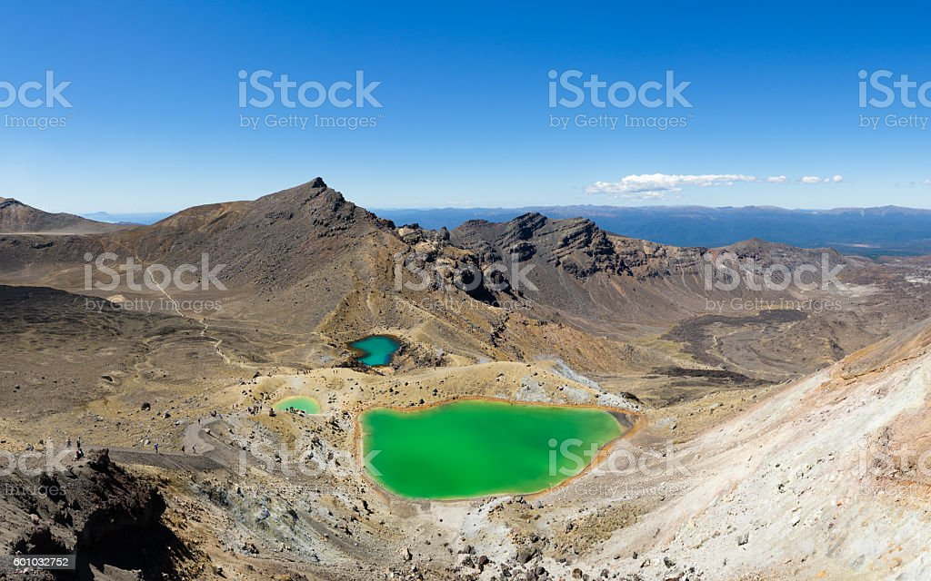Hiking trail through a desert stock photo