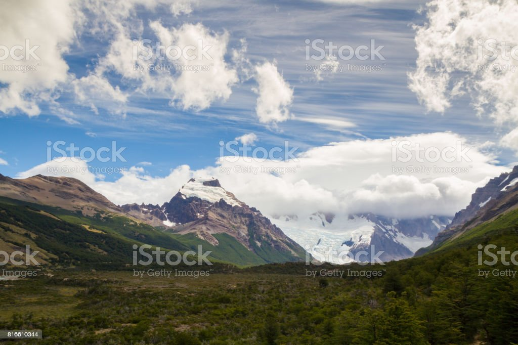 Patagonia South America >> A Hiking Trail Through The Patagonian Andes In Argentinian Patagonia South America Stock Photo Download Image Now