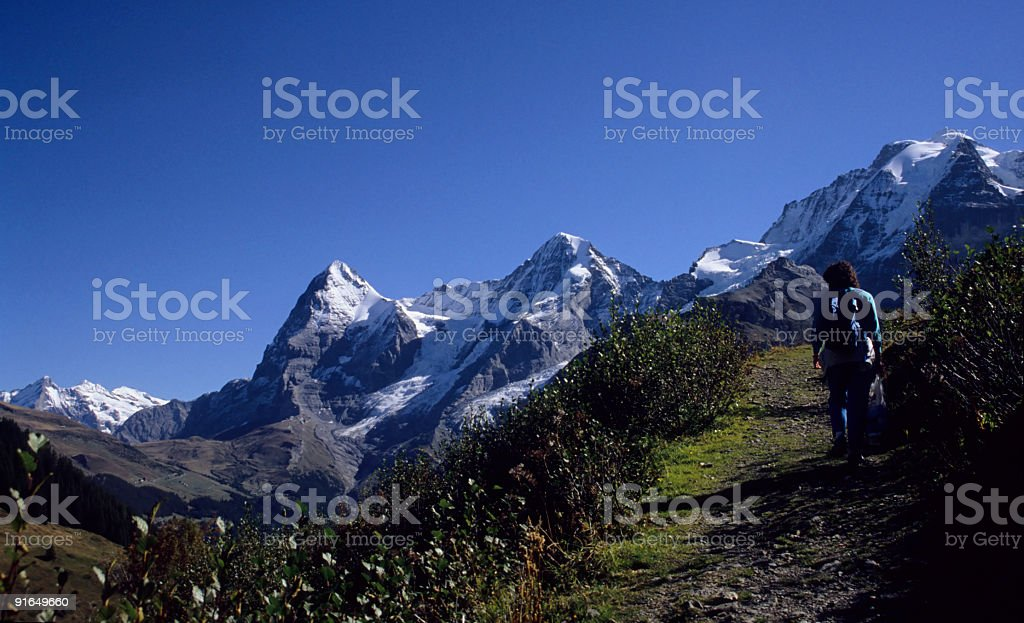 Hiking trail to Jungfrau royalty-free stock photo