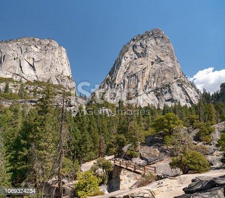 Hiking up Half Dome, Nevada Falls, Yosemite National Park, California, USA. Nikon D850. Converted from RAW.