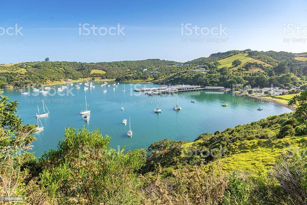 Hiking view, Waiheke Island - New Zealand stock photo