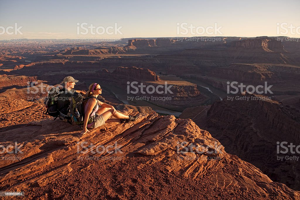 Hiking Vista stock photo