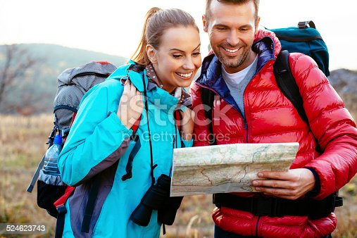 istock Hiking with backpack 524623743