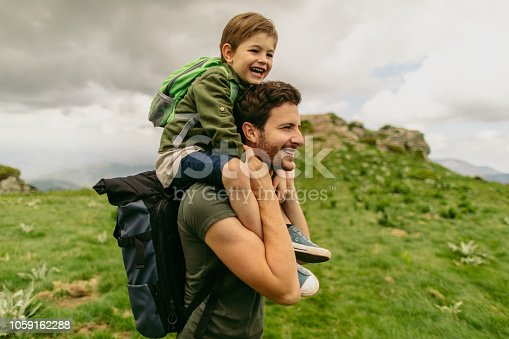 istock Hiking with my father 1059162288