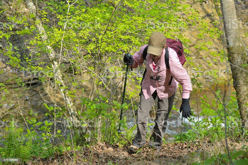 Hiking Woman royalty-free stock photo