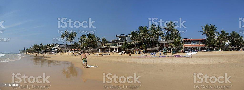 Hikkaduwa beach at Sri Lanka stock photo