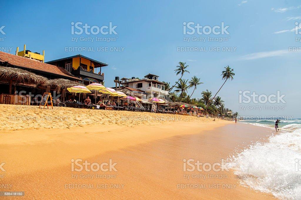 Hikkaduwa beach in Sri Lanka stock photo