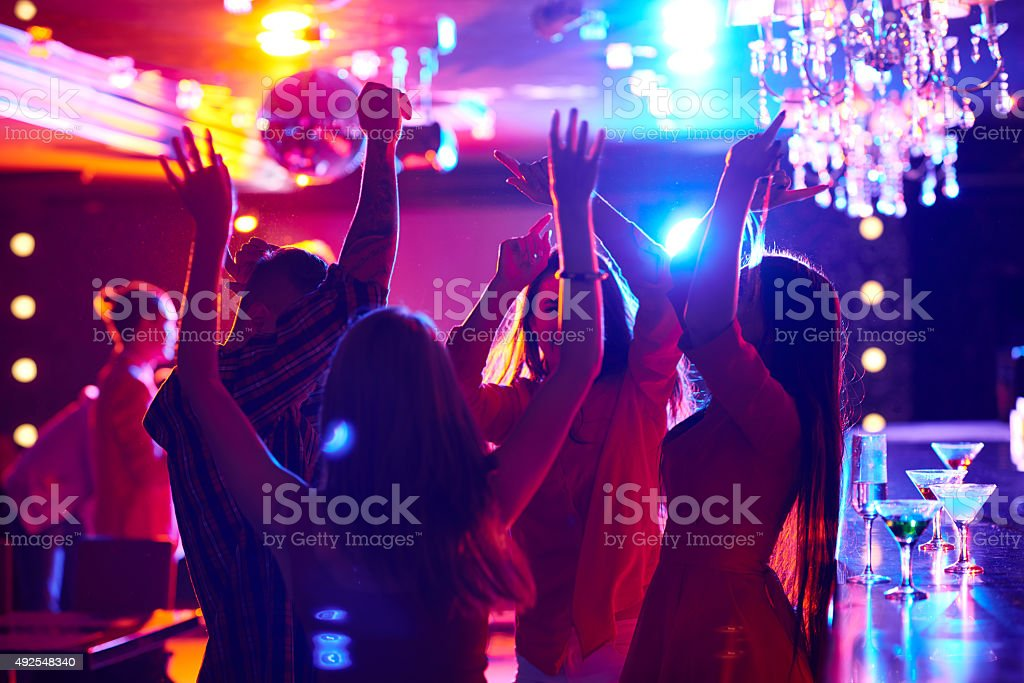 Hilarious party stock photo