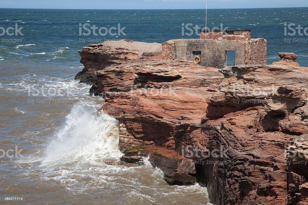 Hilbre Island Abandoned Lifeboat Station royalty-free stock photo