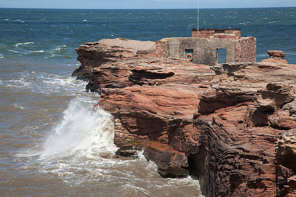 Hilbre Island Abandoned Lifeboat Station stock photo