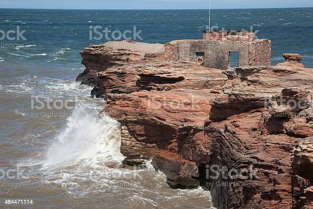 Hilbre Island Abandoned Lifeboat Station Stock Photo - Download Image Now
