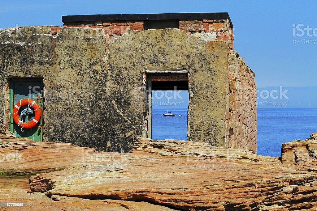 Hilbre Island Former RNLI Station - Royalty-free Abandoned Stock Photo