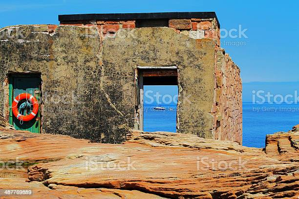 Hilbre Island Former Rnli Station Stock Photo - Download Image Now