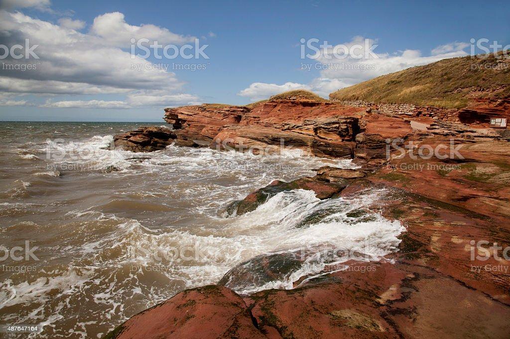 Hilbre Island High Tide stock photo