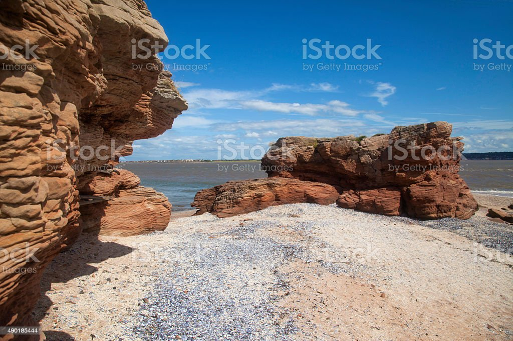 Hilbre Island Inlet stock photo