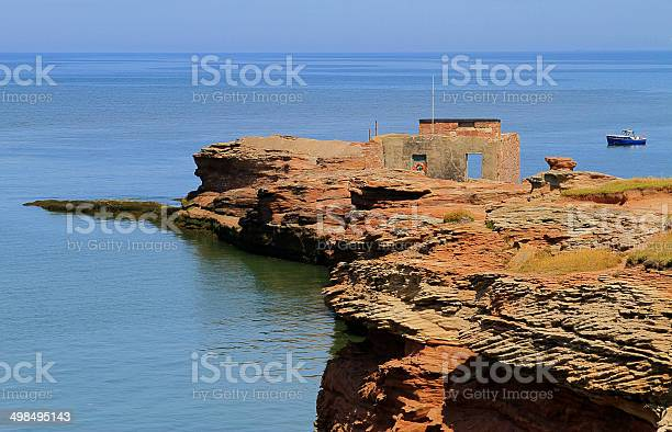 Hilbre Island Old Rnli Station Stock Photo - Download Image Now