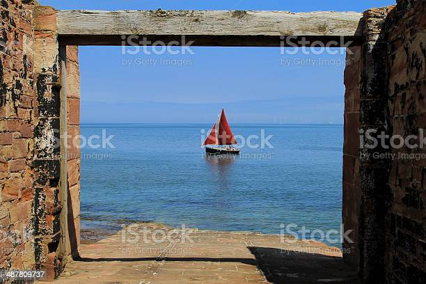 Hilbre Island Slipway Yacht Stock Photo - Download Image Now