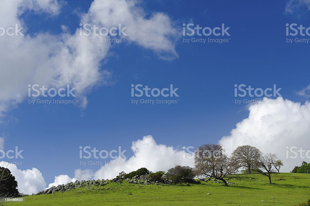 Hill and sky stock photo