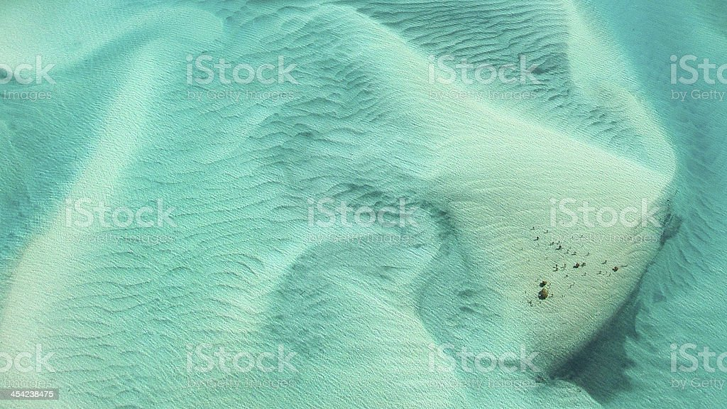 Hill Inlet abstract aerial on Whitehaven Beach stock photo