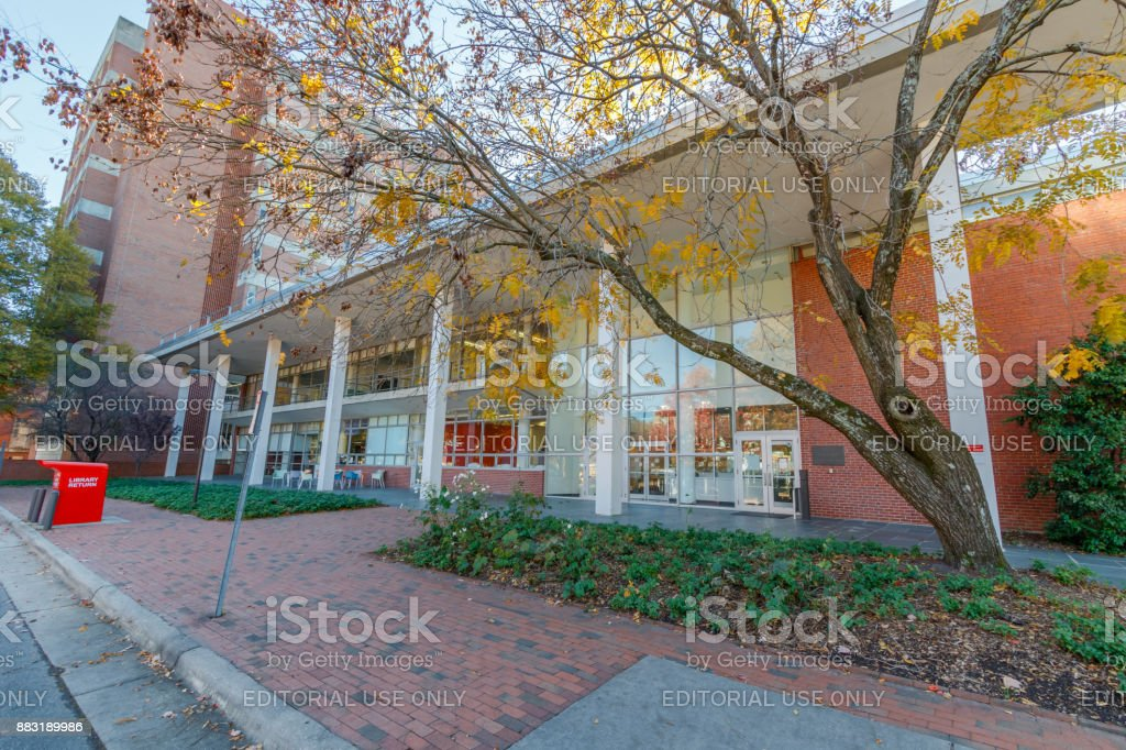 DH Hill Library at NC State University stock photo