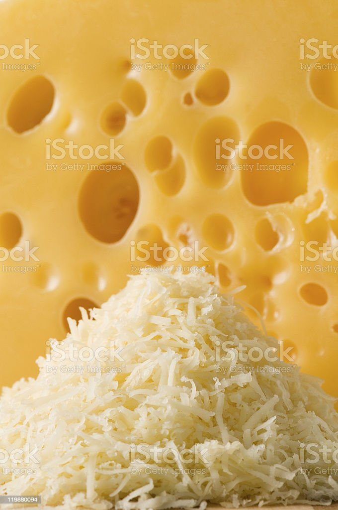 hill of cheese shredded shavings royalty-free stock photo